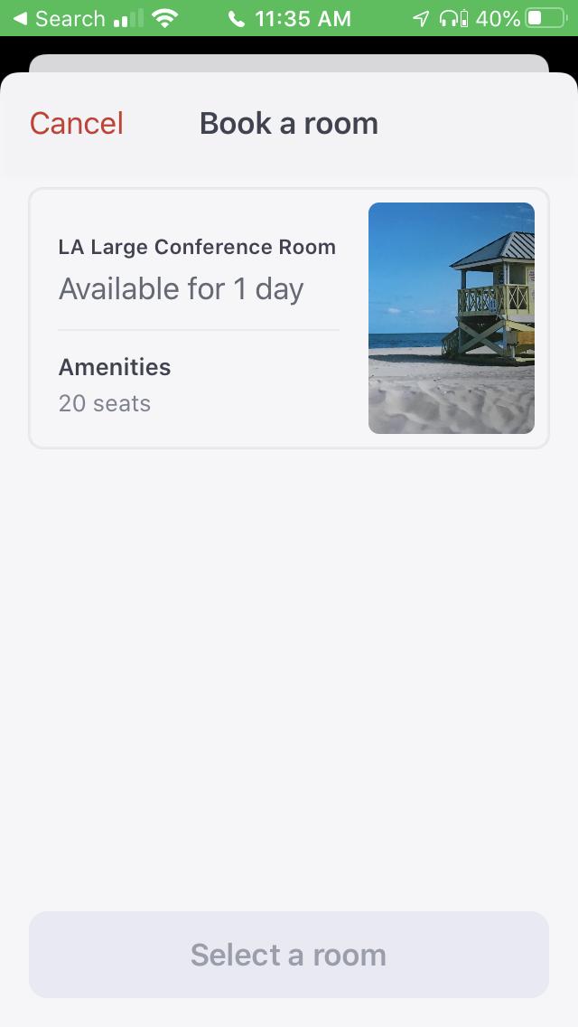 Product Screenshot:  Envoy Rooms 3